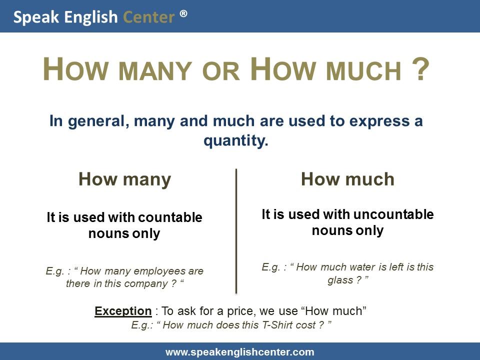 english grammar lesson muchhow many