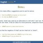 """Leçon de grammaire : """"Shall"""""""