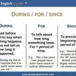 <!--:fr-->Leçon De Grammaire En Anglais: During/For/Since<!--:--><!--:en-->English Grammar Lesson: During/For/Since<!--:-->